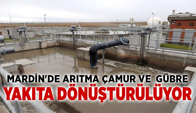 Mardin'de arıtma çamur ve  gübre yakıta dönüştürülüyor