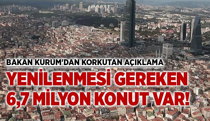 Bakan Kurum'dan korkutan açıklama: Yenilenmesi gereken 6,7 milyon konut var!