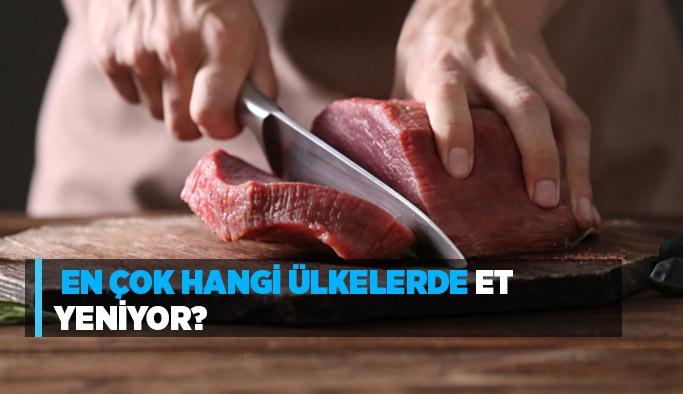 En çok hangi ülkelerde et yeniyor?