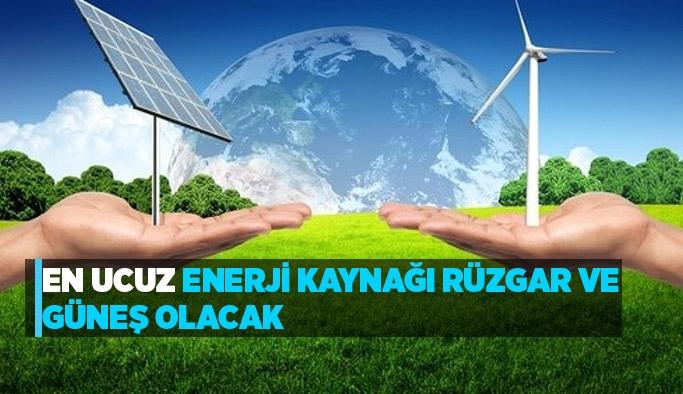 En Ucuz Enerji Kaynağı Rüzgar ve Güneş Olacak