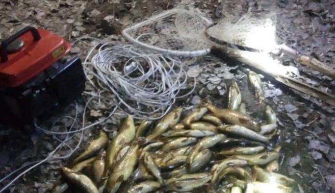 Jeneratörle balık avına 10 bin lira ceza kesildi