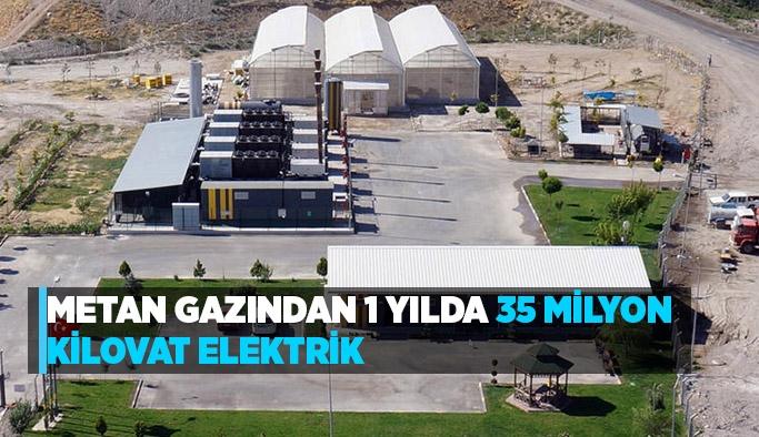 Metan gazından 1 yılda 35 milyon kilovat elektrik