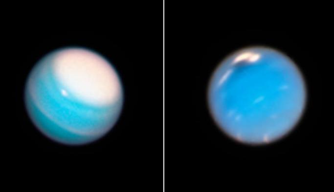 Neptün ve Uranüs'teki dev fırtınalar görüntülendi
