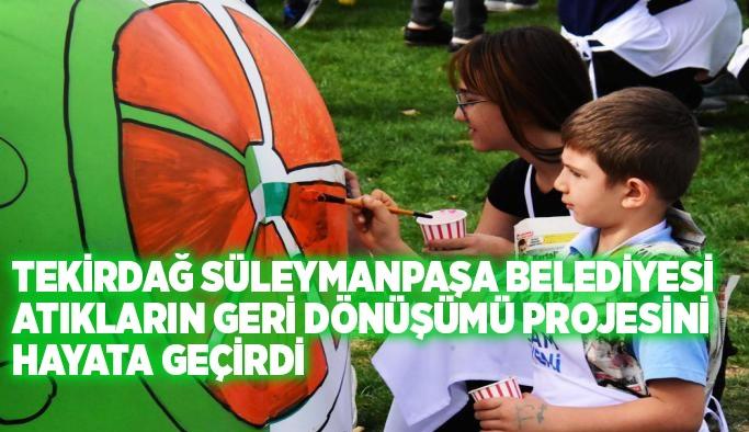 Tekirdağ Süleymanpaşa Belediyesi atıkların geri dönüşümü projesini hayata geçirdi