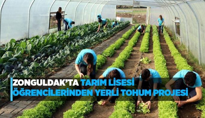 Zonguldak'ta tarım lisesi öğrencilerinden yerli tohum projesi