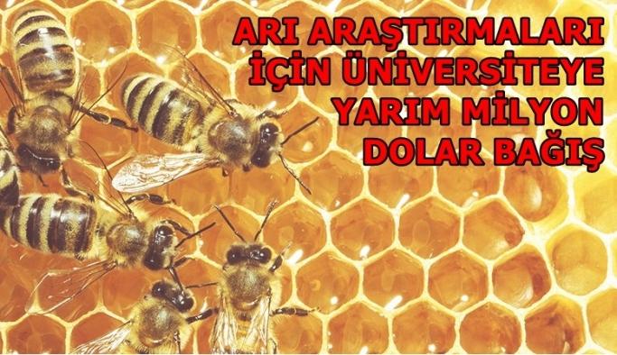 Arı araştırmaları için Üniversiteye yarım milyon dolar bağış