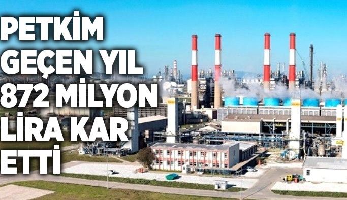 Petkim geçen yıl 872 milyon lira kar etti SOCAR Türkiye'nin iştiraki Petkim, 2018'de 872 milyon lira net kar ve 9,3 milyar lira ciroya ulaştı