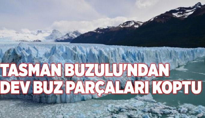 Tasman Buzulu'ndan dev buz parçaları koptu