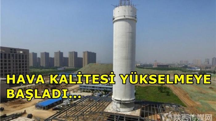 Çin, Güneş Enerjisi ile Çalışan Dünyanın En Büyük Hava Temizleme Kulesini İnşa Etti