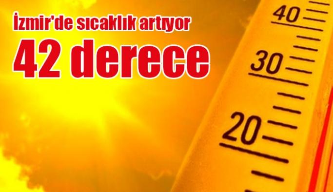 İzmir'de sıcaklık 42 dereceye çıkıyor