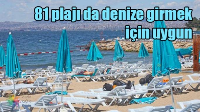 İstanbul'un 81 plajı da denize girmek için uygun'