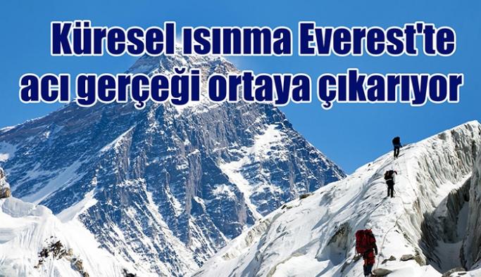 Küresel ısınma Everest'te acı gerçeği ortaya çıkarıyor