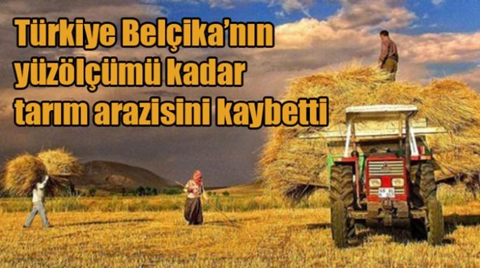 Türkiye Belçika'nın yüzölçümü kadar tarım arazisini kaybetti