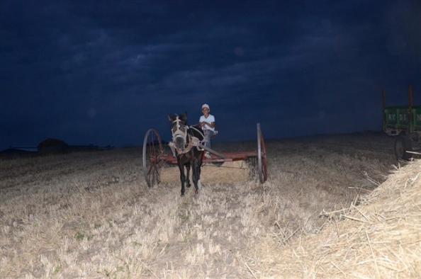 Çiftçiler gece mesaisi yapıyor