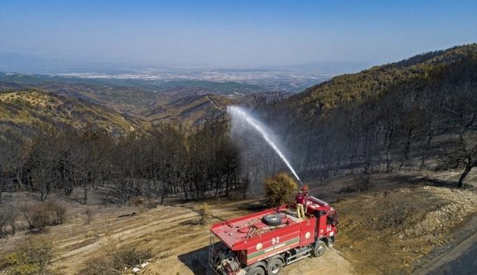 Yangın sonrası nöbet devam ediyor