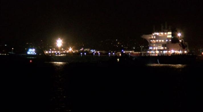 Zeytinburnu açıklarında iki gemi çarpıştı