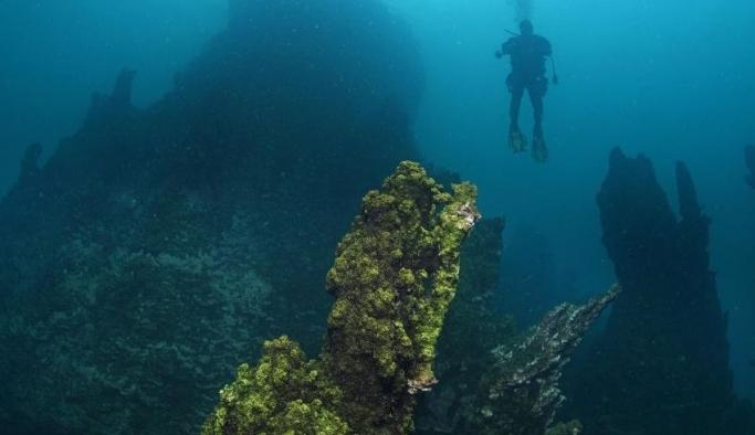 En büyük mikrobiyalitler Van Gölü'nde görüntülendi