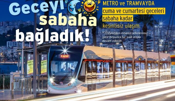 """Metro ve tramvayda """"cumadan pazara"""" kesintisiz sefer dönemi"""