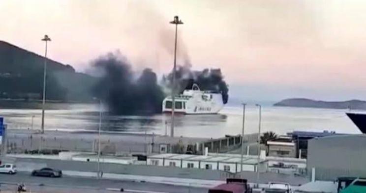Yunanistan'da feribot yandı: 613 yolcu tahliye edildi