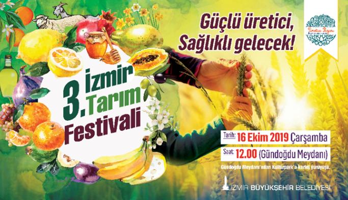 3. İzmir Tarım Festivali ile birlikte üretici pazarı da açılıyor