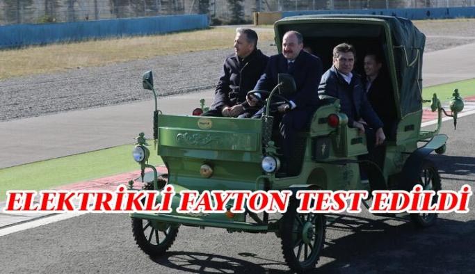 Bakan Varank yerli elektrikli faytonu test etti