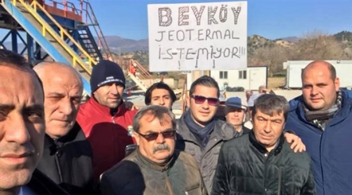 Halk jeotermale karşı direnişe geçti: Çalışma durduruldu