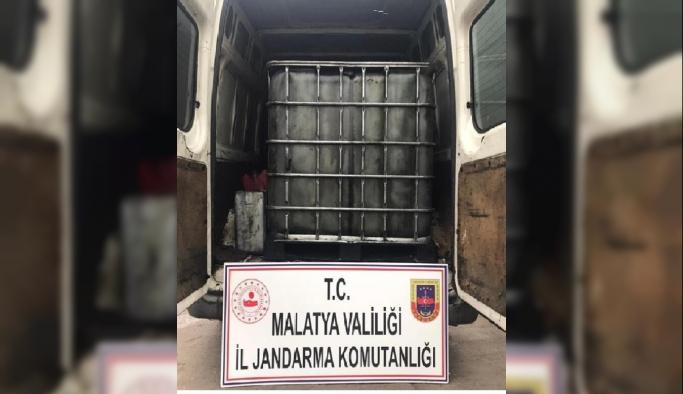 Malatya'da, 2 bin 500 litre atık madeni yağ ele geçirildi