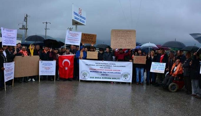 Torbalı'da akü geri dönüşüm tesisi tepkisi