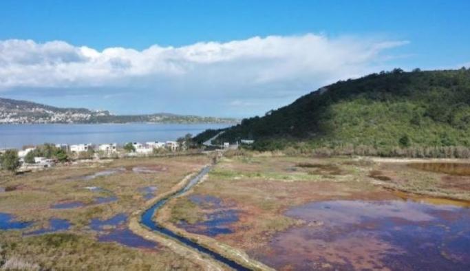 Çevre kirliliği gölü yok ediyor