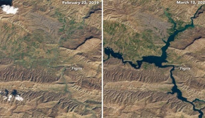 NASA Hasankeyf'in bir yılda değişen durumunu görüntüledi