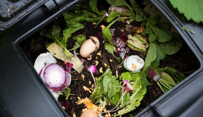 Yemekhane atıkları komposta dönüşüyor