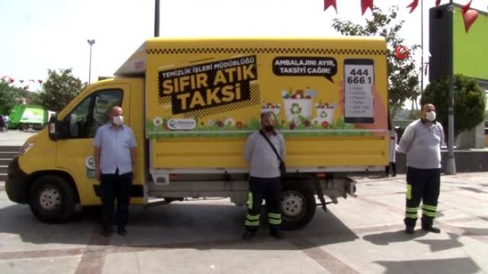 Beykoz'da 'Sıfır Atık Taksi' hizmete girdi