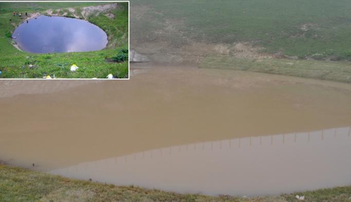 Dipsiz Göl balçıkla kaplandı
