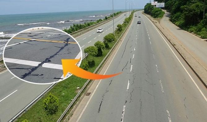 Karadeniz'de sahil yolunda 'çatlak' tehlikesi: