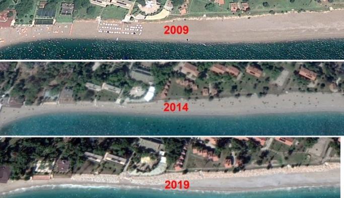 60 yılda 35 metre eridi, bir havluluk yer kaldı