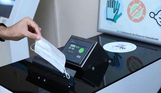 DEÜ'de atık maske ve eldivenleri toplayacak cihazın ilk üretimi yapıldı