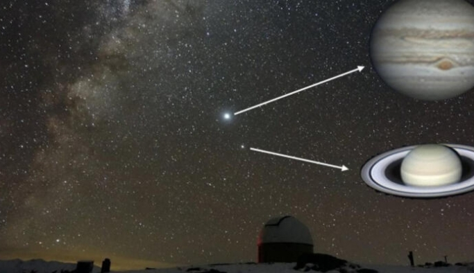 Büyük Jüpiter-Satürn kavuşumu bu akşam: 800 yıldır ilk kez bu kadar net izlenebilecek