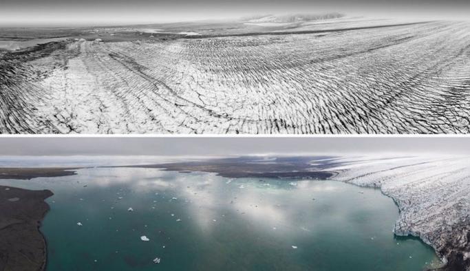30 yıl arayla yan yana gelen fotoğraflar iklim değişikliğinin yıkıcı etkisini gözler önüne serdi!