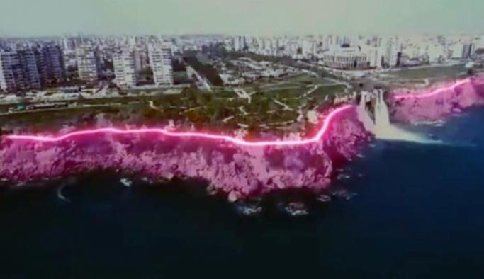 'Falez ışıklandırma projesi' pavyona benzetildi