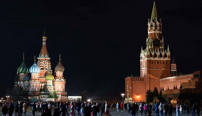 Kremlin'in ışıkları iklim değişikliği için 1 saatliğine kapatıldı