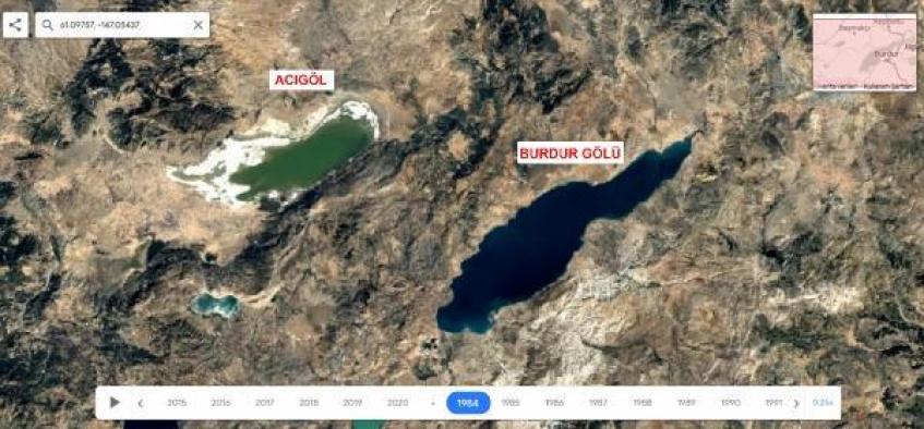 36 yıllık uydu fotoğrafları kuruyan gölleri ortaya çıkardı