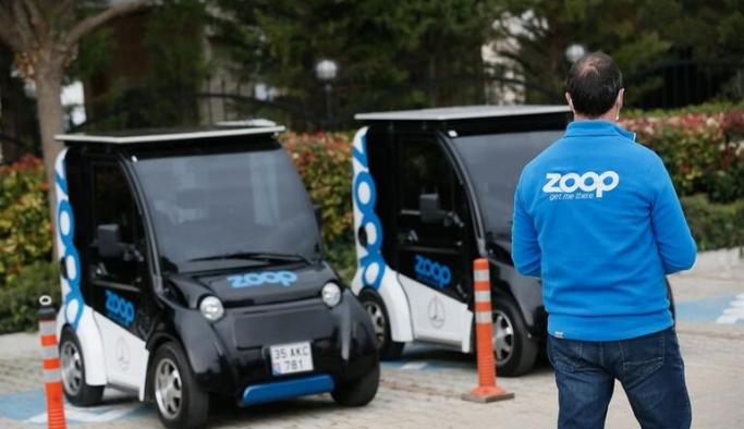 Elektrikli paylaşımlı mini araç İzmir'de faaliyete geçti