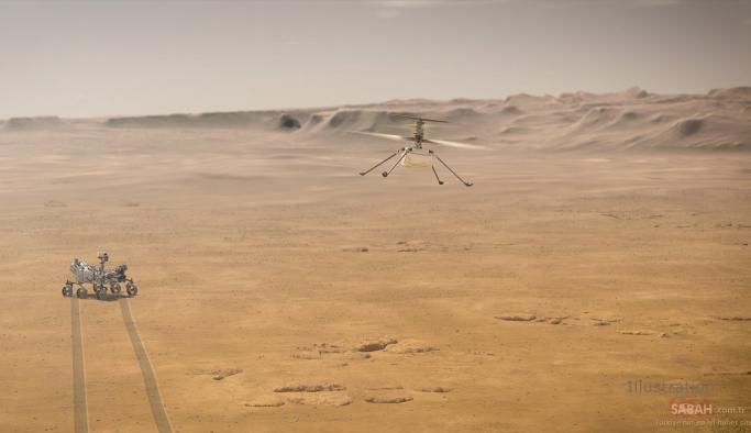 Helikopter Ingenuity Mars'ta ilk uçuşuna hazırlanıyor