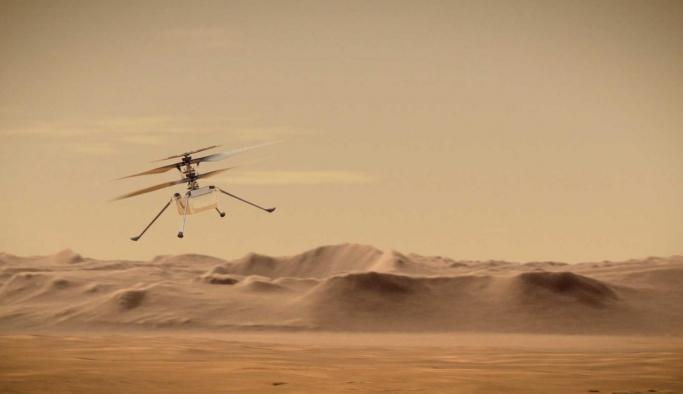 NASA'nın Mars'taki helikopteri başarıyla uçuş gerçekleştirdi