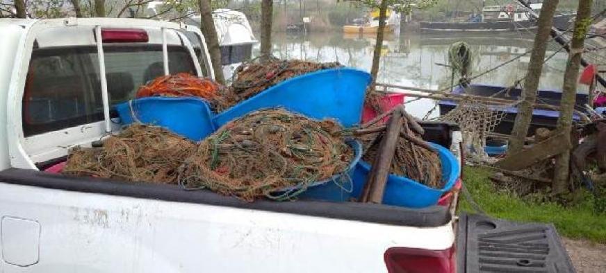 Kaçak ağlara takılan kalkan balıkları denize bırakıldı