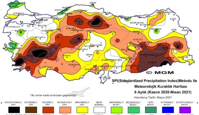 Son 6 aylık kuraklık haritası korkuttu!