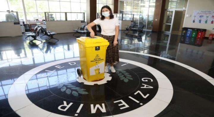 Gaziemirde atık ilaçlar çöpe gitmeyecek