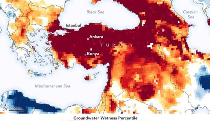 Dünya Kuraklık Risk Haritası (2021)