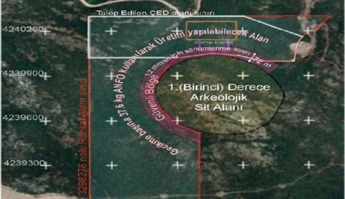 Urla'da 1. derece arkeolojik sit alanının 10 metre uzağına taş ocağı izni verildi