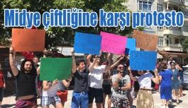 Midye çiftliğine karşı protesto